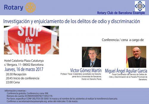 Conferencia «Investigación Y Enjuiciamiento De Los Delitos De Odio Y Discriminación»
